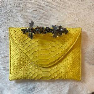 Maison DuPosh Python Leather Knuckle Clutch